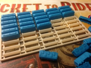 """""""Ticket to Ride"""" trains tray"""