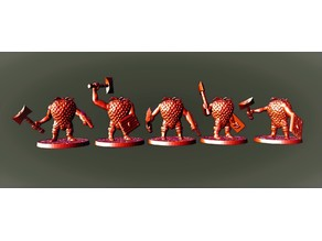 28mm Miniature Strawbarians !