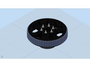 Ultralightweight 6in Diameter Traction Wheel