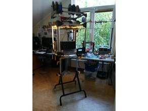 Folding Workbench a good place to build a large 3D-Printer