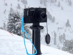 Ski pole camera tripod adapter