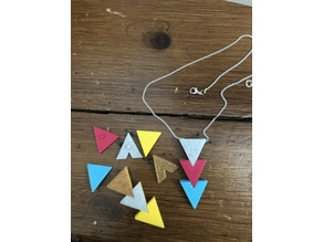 interchangeable triangles pendant
