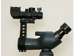 NATO/Picatinny Rail for Nikon ED50 Spotting Scope