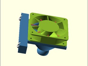 Flexible hotend cooling for mendel90