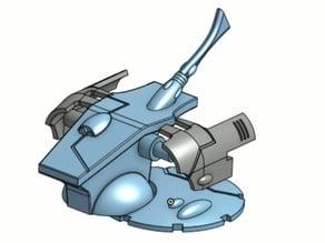 Space Elf Snake Tank Gun Turret