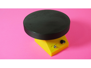 DIY Motorized Turntable for Photo & Video Version 2.0