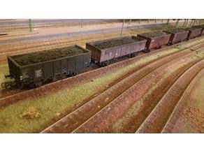H0 2axles wagoon coal load