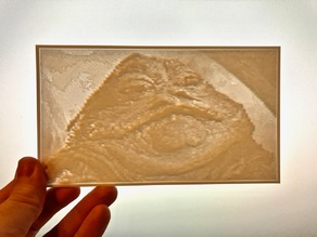 Jabba the Hutt Lithopane/Lithophane #2