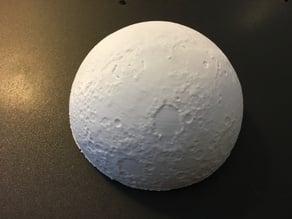 3Dprinted Lunar Phase Clock Moon cut in half