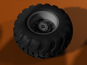 Monster Truck wheel and tire