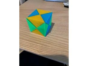 Coordinate-motion cube puzzle