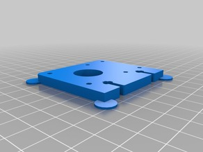 3D Printable Replacement Parts for Plastruder MK6 Support 1.75mm (plate D)