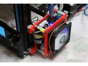 KFB2.0 mount for 2020 extrusion with 80 mm fan for Tronxy X5S