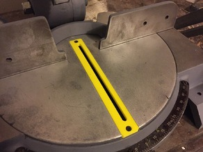 Throat Plate for Delta 34-080 Miter Saw