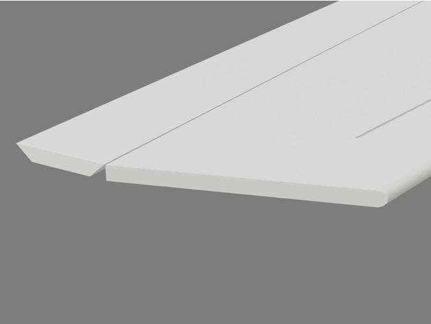 Aileron chamfers and round edge