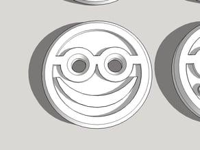 Happy Nerd Shirt Button