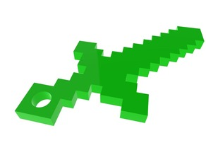 Minecraft Sword Keychain - portachiavi