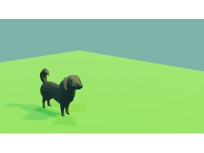 Low poly dog / puppy