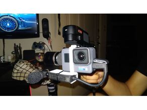 GoPro Hero 6 Gimbal Bracket for External Mic