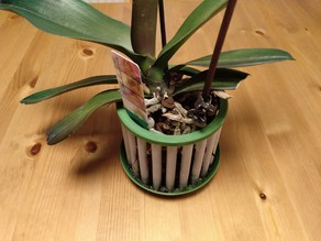 Aerated planter for orchids