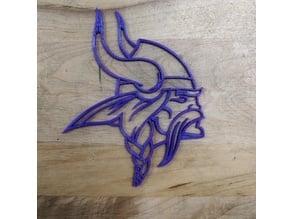 Minnesota Vikings Logo Outline