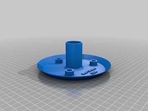 Remix of Bottom plate for Stevenson screen for wireless meteorological sensor