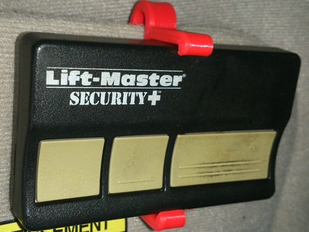 Liftmaster Garage Door Remote Visor Clip By Schrodingers