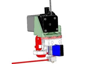 Titan Extruder Mount for Scalar XL Premium / Scalar L / Scalar S 3D printers