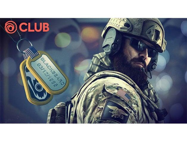 Rainbow Six Siege - Blackbeard Birthday Operator Charm (2018