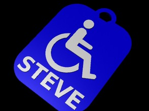 HandiCap Key Fob for Steve