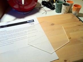 Origami Template - 8 Inch Hexagon