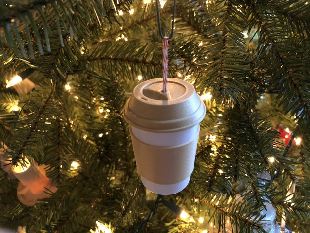 Coffee Christmas Ornament.Coffee Cup Christmas Ornament By Bpmarkowitz Thingiverse