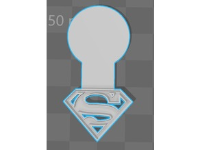 jeton de caddie superman caddy coin