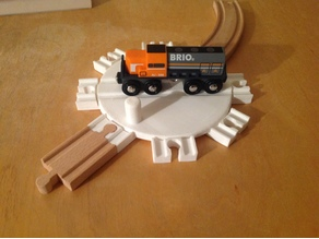 Wooden Train Turntable - 150mm table - Brio/Thomas