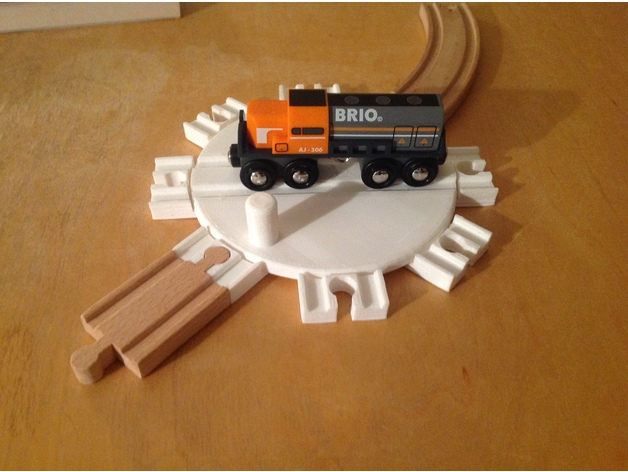 Magnificent Wooden Train Turntable 150Mm Table Brio Thomas By Home Remodeling Inspirations Genioncuboardxyz