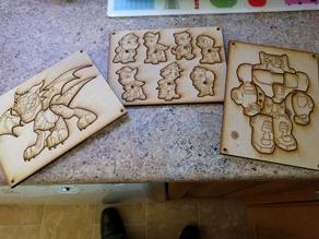 3 in 1 Kids Puzzles 2 (Lasercut)