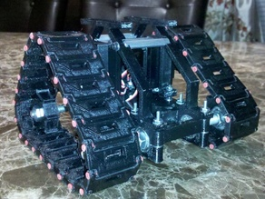 Tri-Track dual servo robot tank chassis
