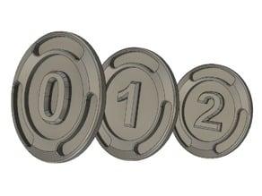 Numerical / Number - bucks (Fortnite V Bucks style)