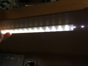 LED strip defusing lens cover