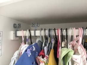 Baby Wardrobe Clothes Dividers by age in months