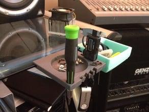 Clip on Desk Tool Holder