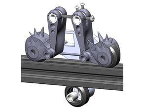 Cantilever gantry guide adjuster