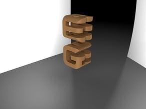 Godel Escher Bach shadow cubes