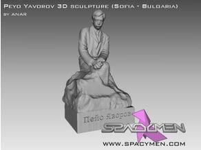 Peyo Yavorov 3D sculpture (Sofia - Bulgaria)