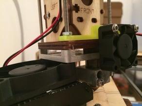 Ultimaker 1 hot end 30mm fan mount