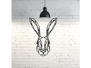 Bunny Wall Sculpture 2D
