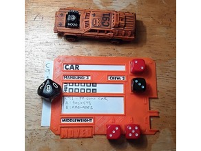 Gaslands Vehicle Dice Template