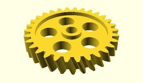 Getriebe Bibliothek für OpenSCAD Gears Library for OpenSCAD by