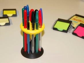 Customizable Hourglass Penholder