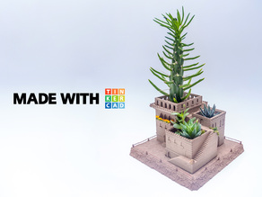 Mini Middle Eastern Villas Planter (3-in-1)
